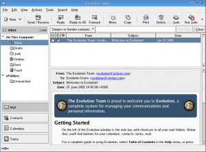 Evolution - Personal information manager