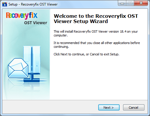 click the installation file. A setup wizard appears