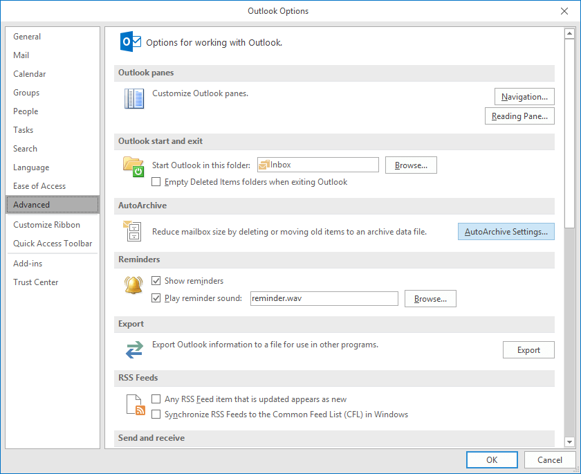 """select """"AutoArchive Settings"""" from """"Auto Archive"""