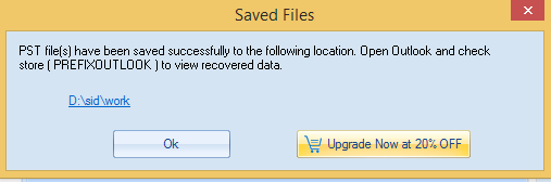 The saved file(s) can be accessed