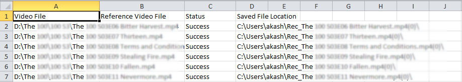 Double-click to launch the CSV file