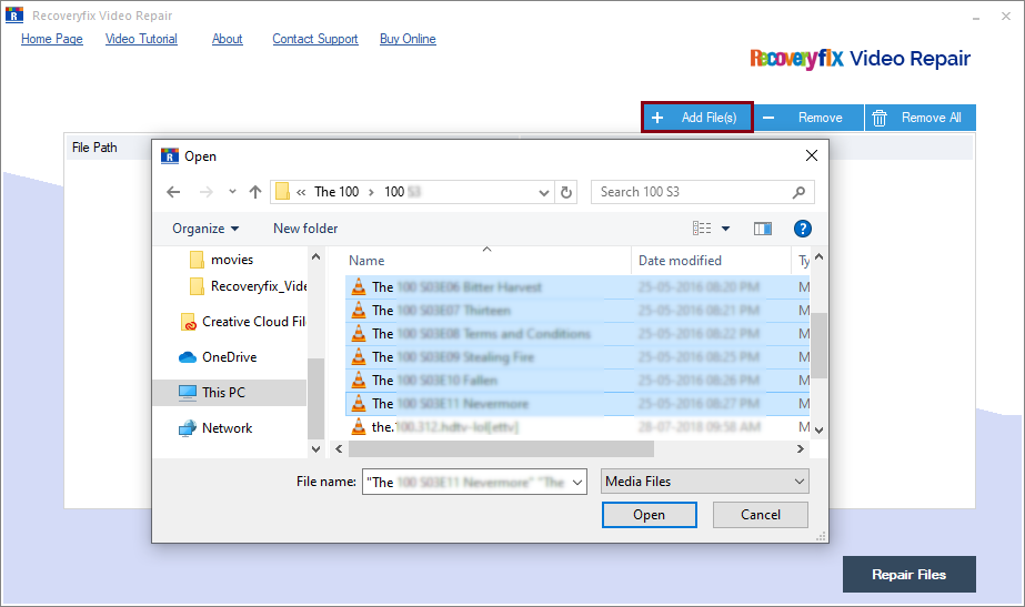 Now add the single or multiple files