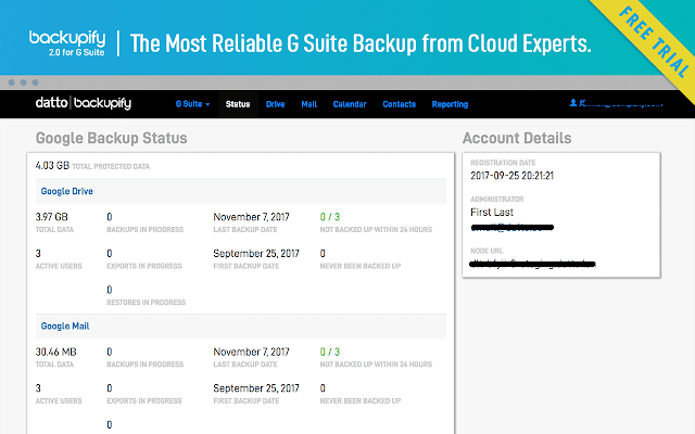 automated options to backup and restore data