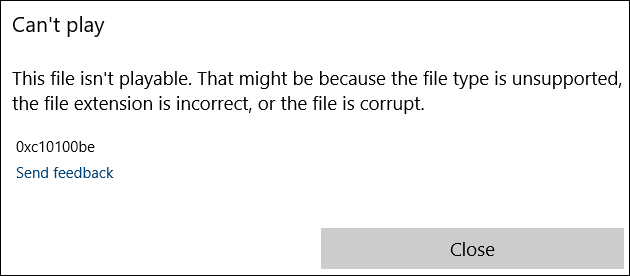 this file isn't playable