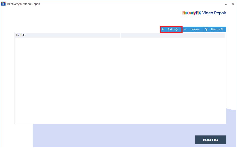 click Add File(s) button