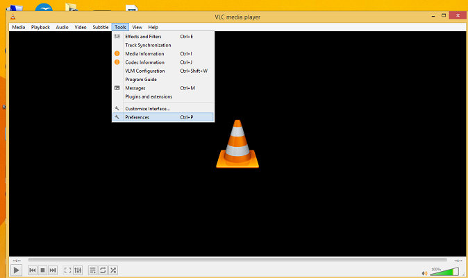 Open the VLC media player