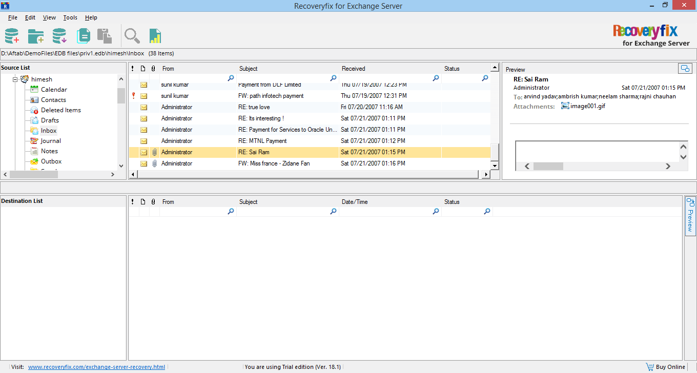 See the Preview of recovered file