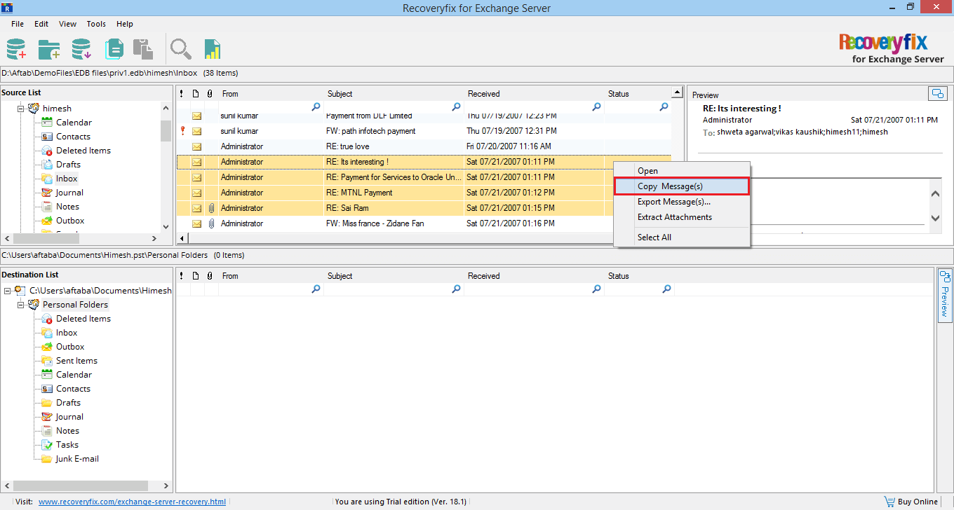 Exchange Server Recovery Software to Repair & Recover