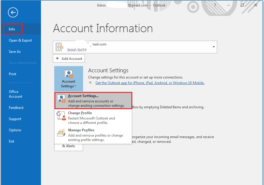 Go to Accounts Settings