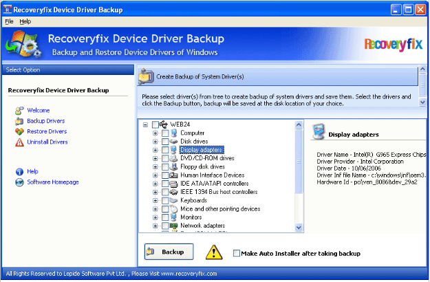 Backup system drivers