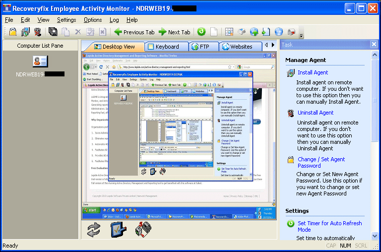 Employee Monitoring Software screenshot