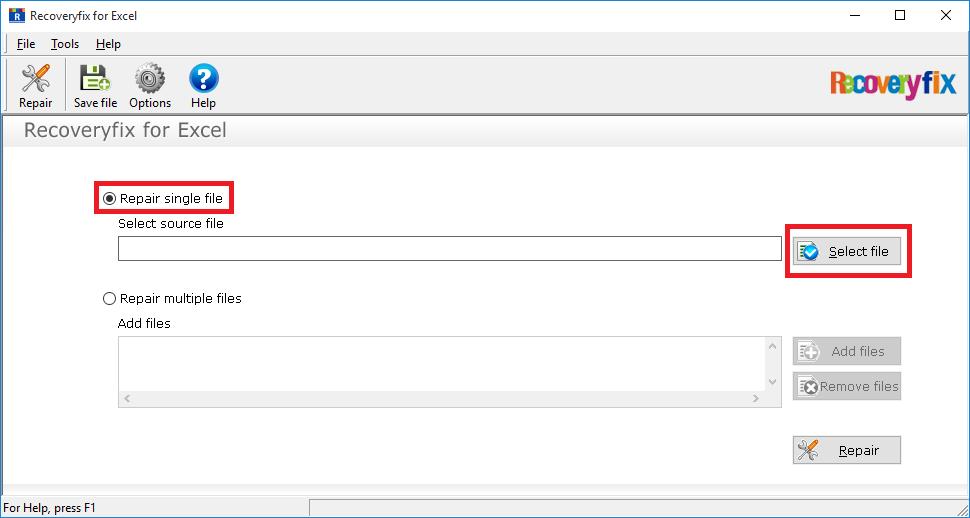 Select repair single file