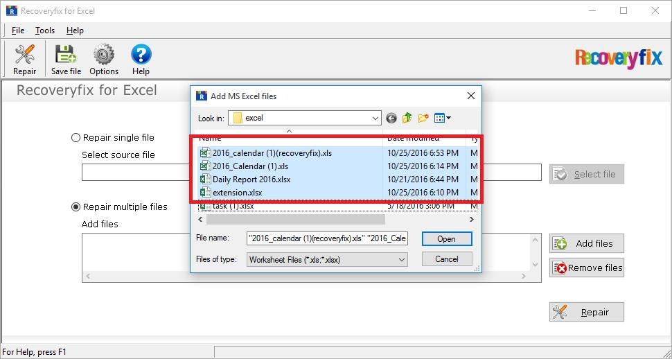Add files option