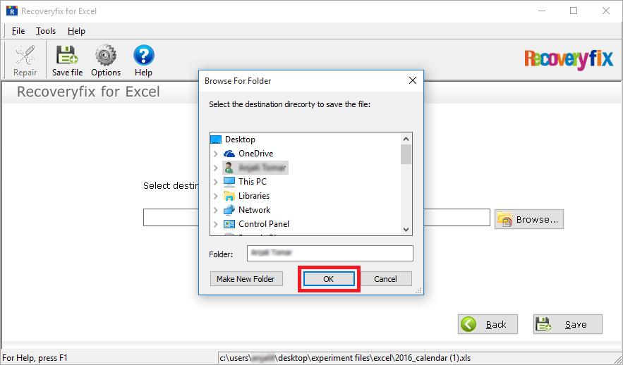 Select browse option