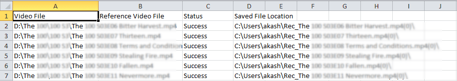 Saving report to CSV format
